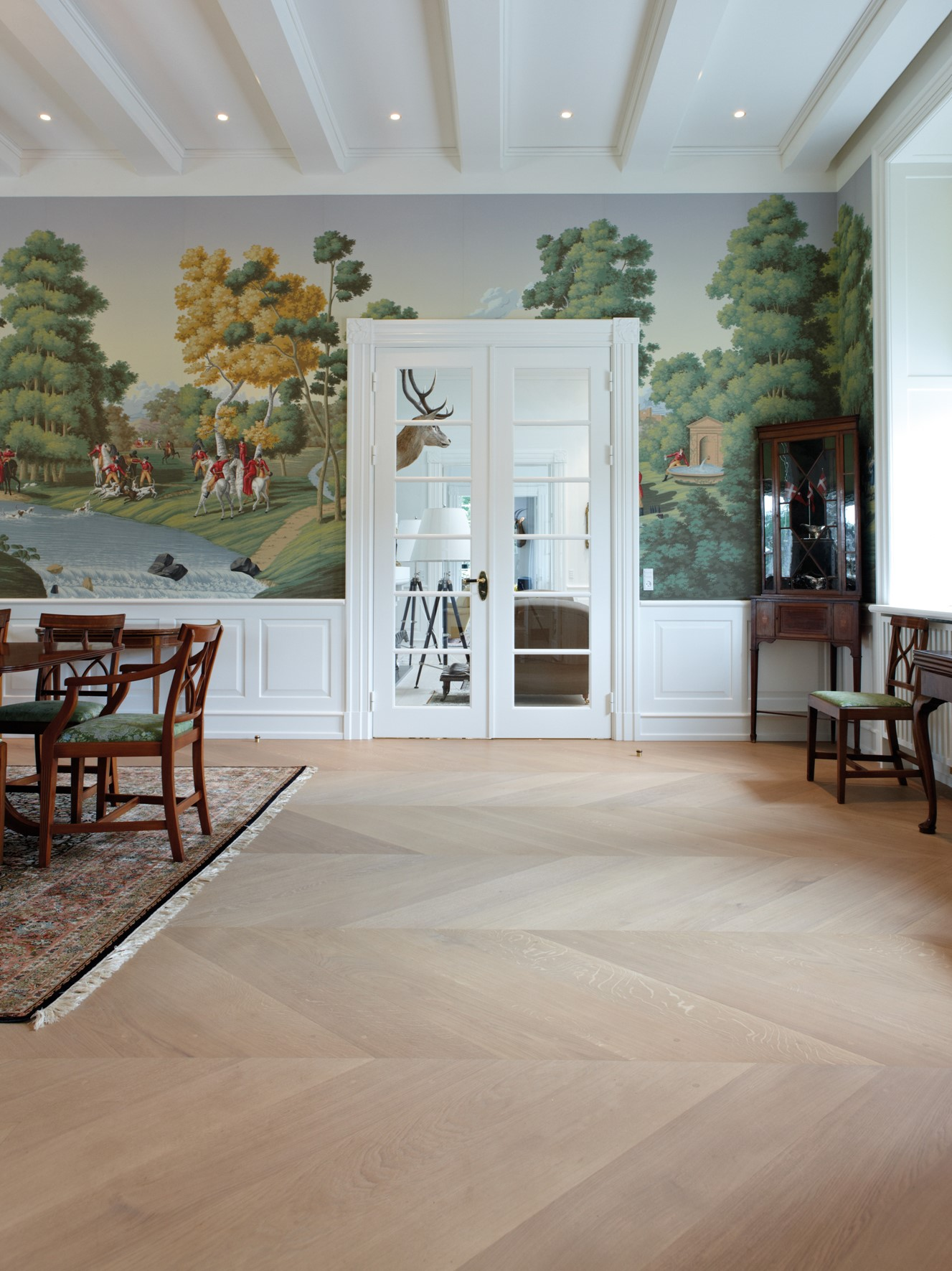 douglas chevron pattern flooring white oil danish estate dining room dinesen 02.jpg