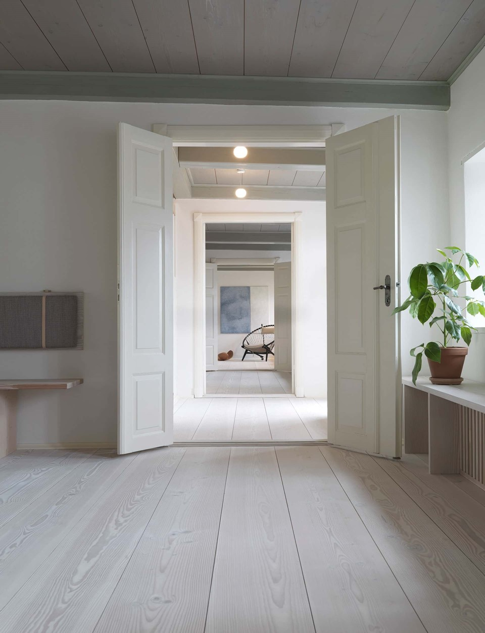 douglas fir floor lye white soap underfloor heating hallway dinesen country home.jpg