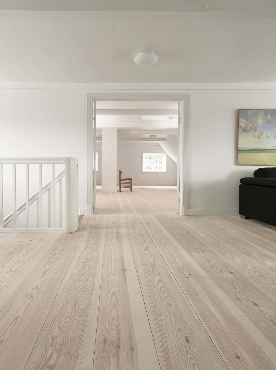 pine flooring lye white soap living room dinesen